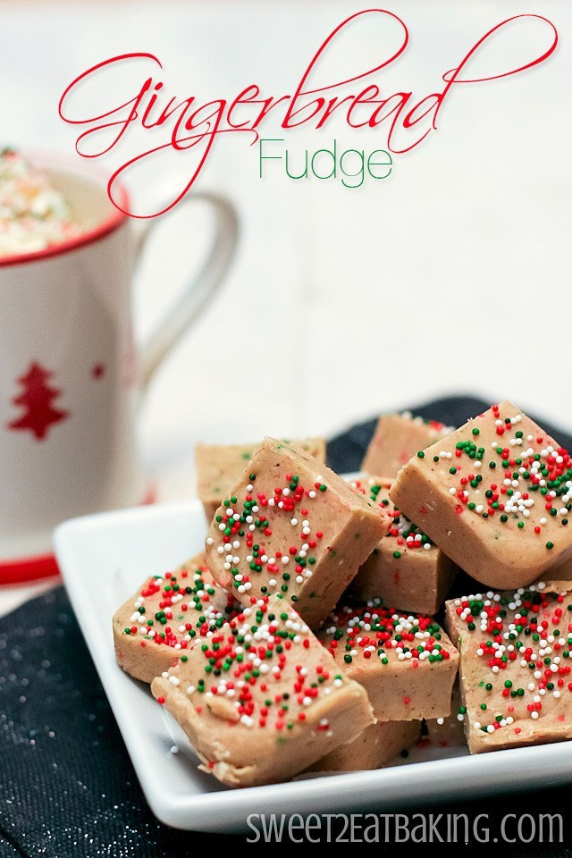 Christmas Fudge Recipes  Gingerbread Fudge Recipe