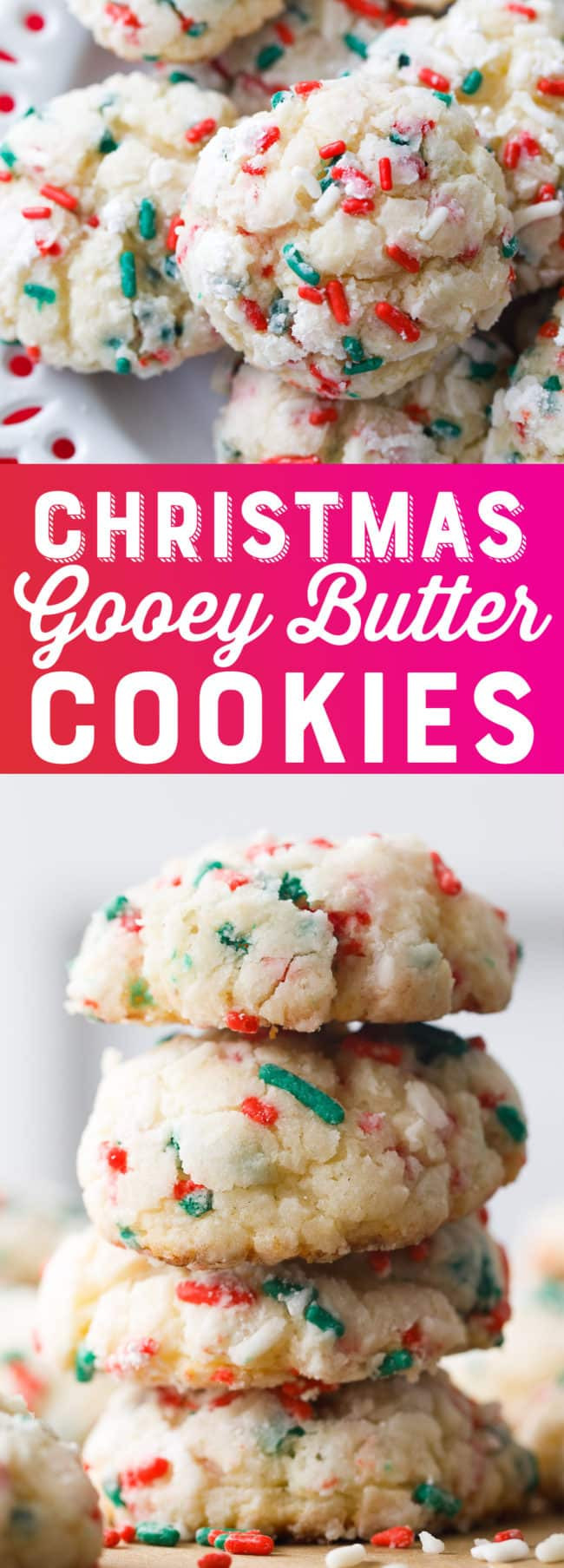 Christmas Gooey Butter Cookies  Christmas Gooey Butter Cookies Recipe Gooey Butter