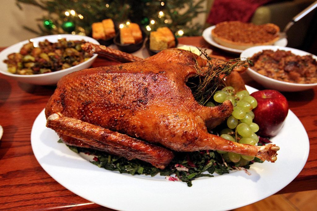 Christmas Goose Dinner  A Roast Goose Ready to Order for Christmas The New York
