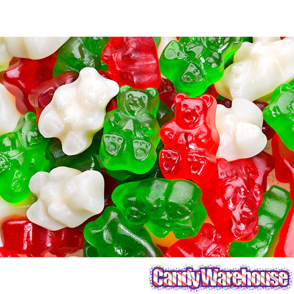 Christmas Gummy Candy  Christmas Gummy Bears Candy 5LB Bag