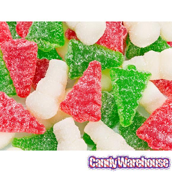 Christmas Gummy Candy  Sour Gummy Christmas Trees & Snowmen 4 5LB Bag