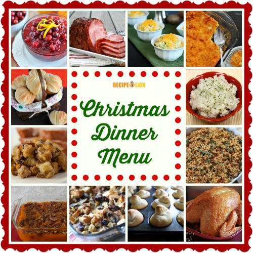 Christmas Ham Dinner Menu  56 Christmas Dinner Menu Ideas