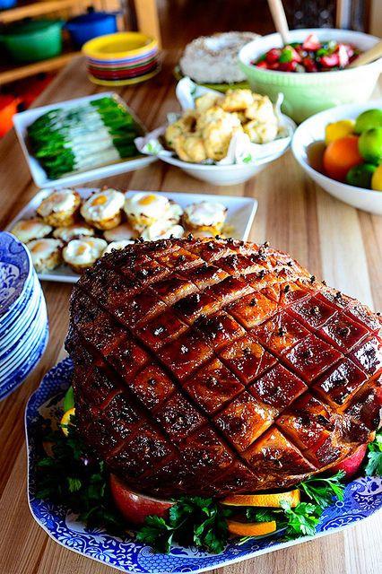Christmas Ham Dinner Menu  Best 25 Christmas ham glaze ideas on Pinterest