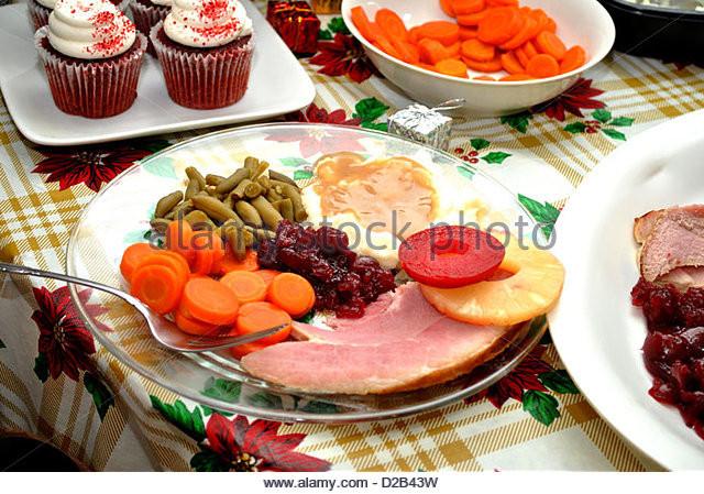Christmas Ham Dinner  Christmas Ham Stock s & Christmas Ham Stock