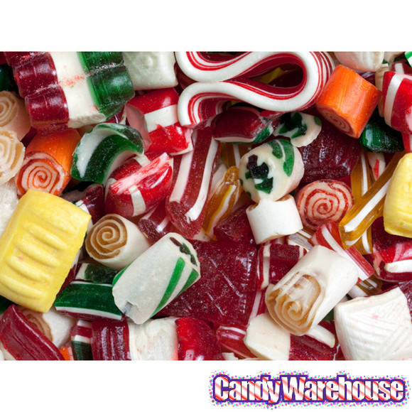 Christmas Hard Candy  Old Time Christmas Mix Candy 16 Ounce Tin