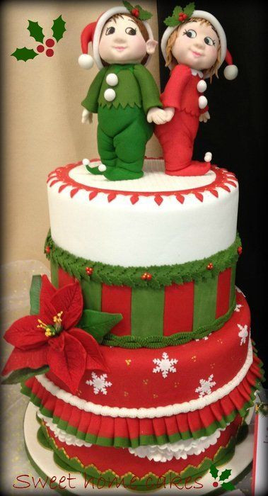 Christmas Holiday Cakes  338 best images about Christmas Cakes on Pinterest