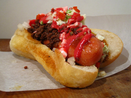 Christmas Hot Dogs  Hot Dog of the Week Christmas Dog with Venison Chili