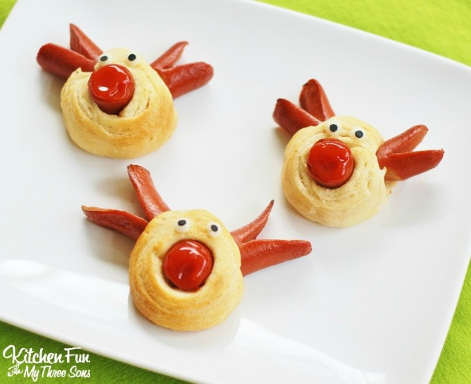 Christmas Hot Dogs  Rudolph the Red Nose Reindeer Hot Dogs for Christmas