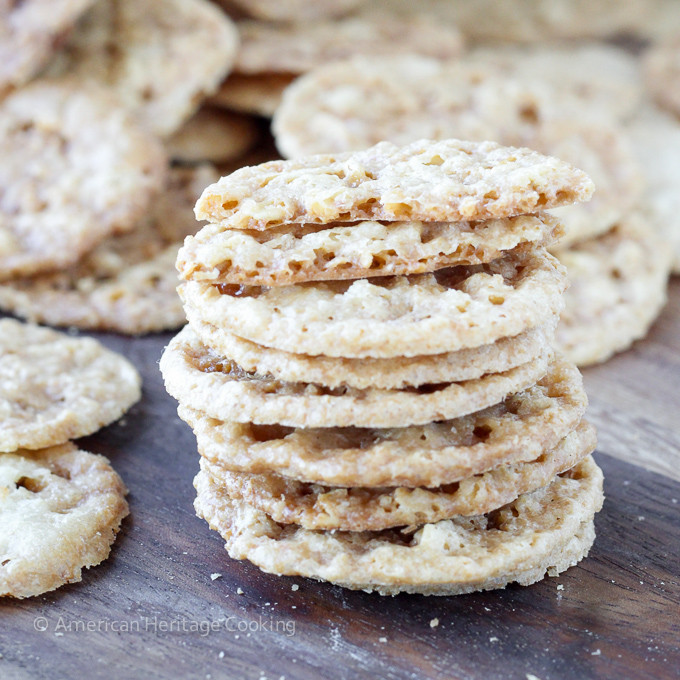 Christmas Lace Cookies  Old Fashioned Oat Lace Cookies American Heritage Cooking