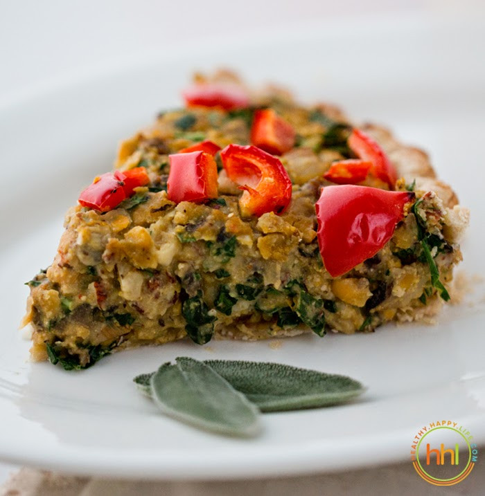 Christmas Main Dishes  Vegan Holiday Main Dish Mushroom Chickpea Hazelnut Tart