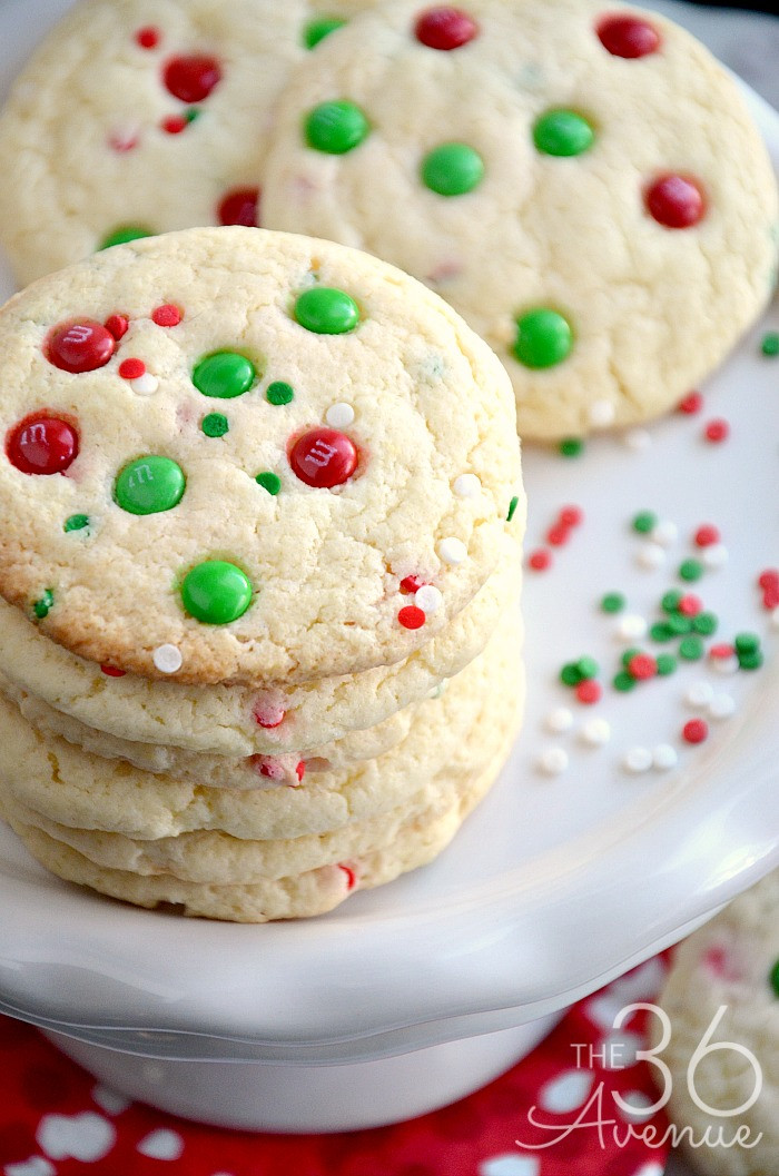 Christmas M&M Cookies  Christmas Cookies Funfetti Cookies The 36th AVENUE