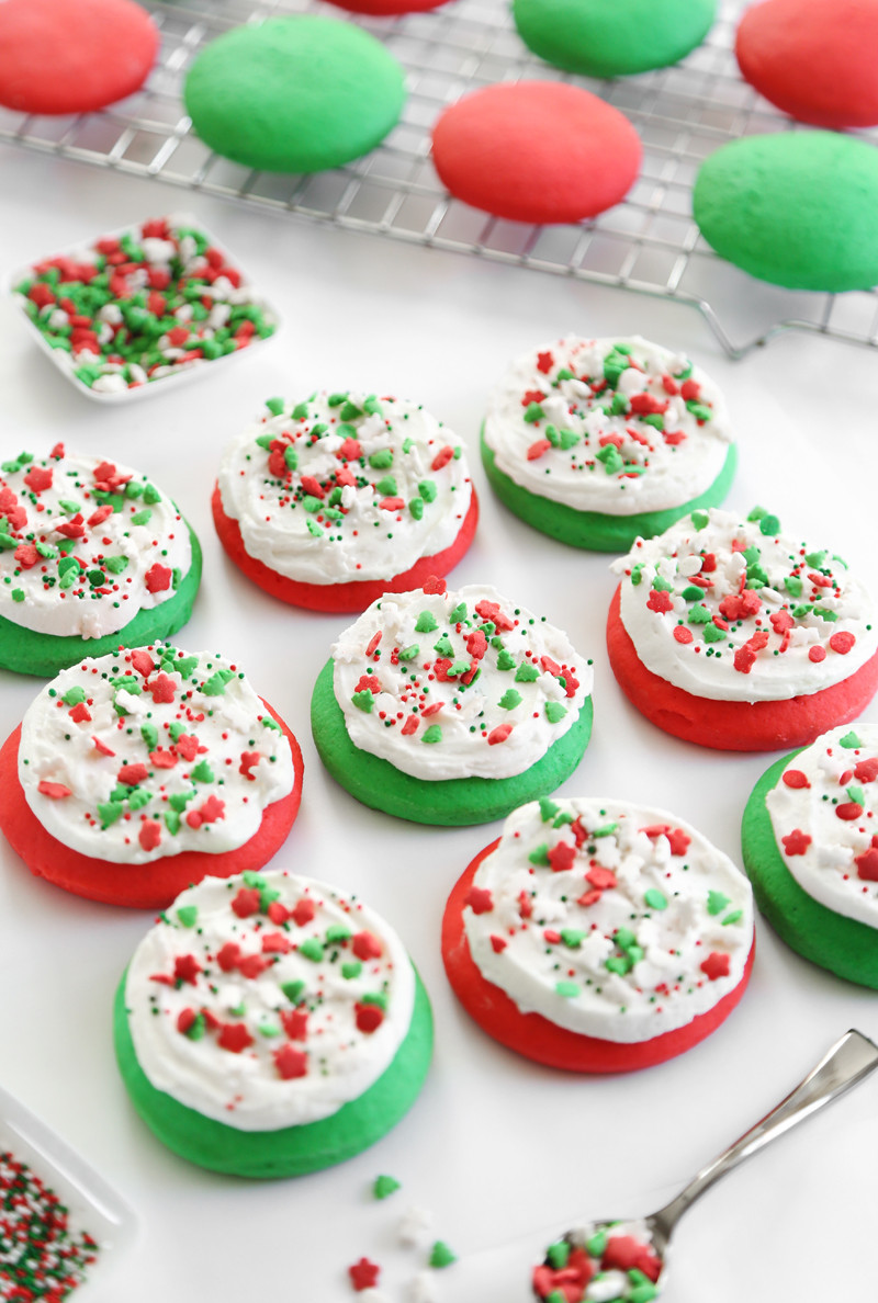 Christmas M&M Cookies  Lofthouse Style Soft Sugar Cookies