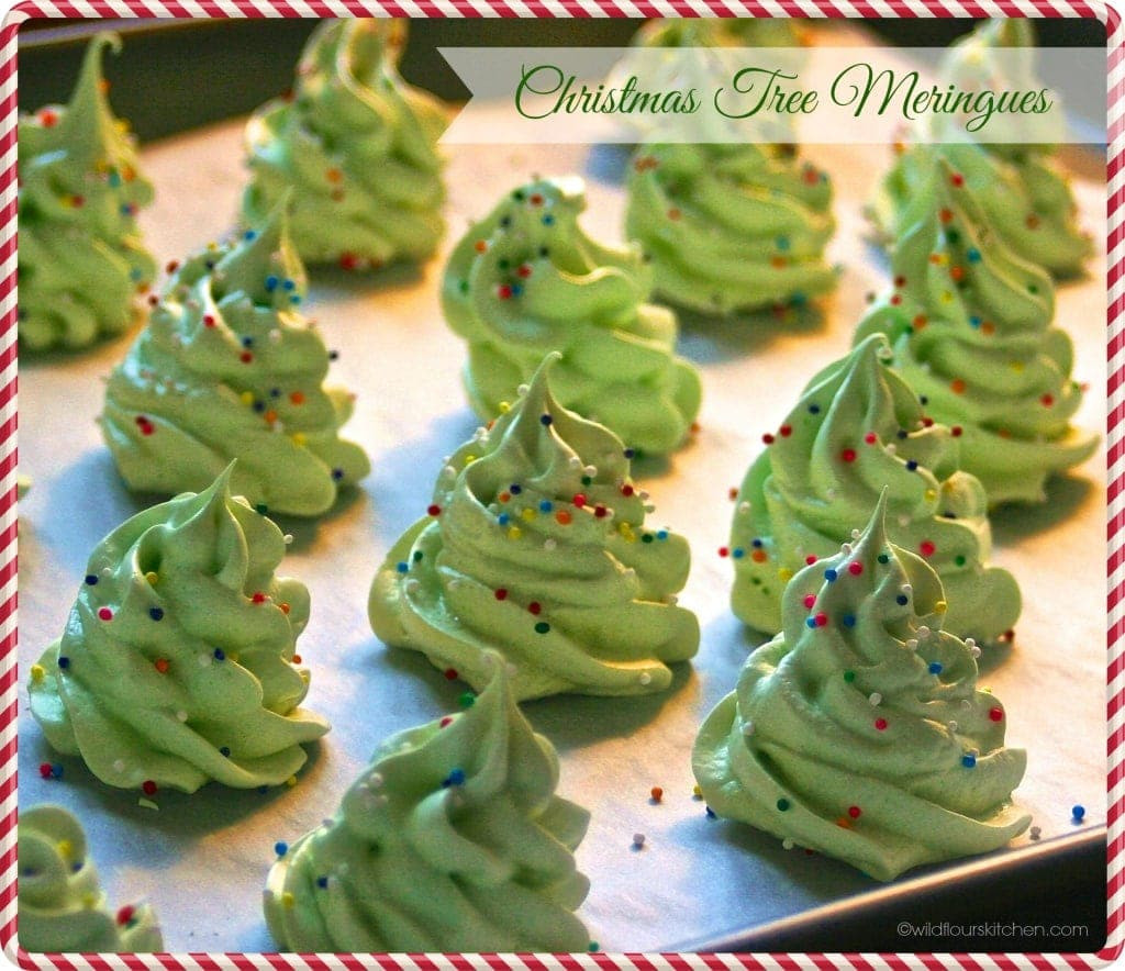 Christmas Meringue Cookies  Christmas Tree Meringues Wildflour s Cottage Kitchen