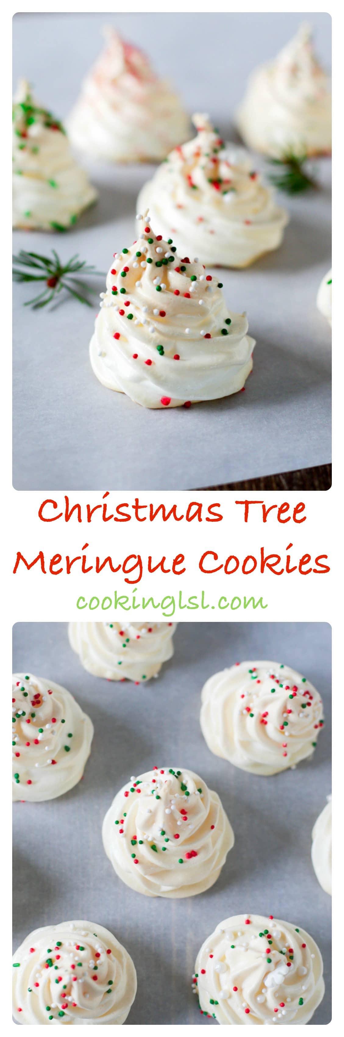 Christmas Meringue Cookies  Christmas Tree Meringue Cookies