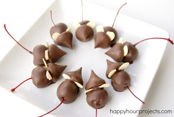 Christmas Mice Candy  Chocolate Cherry Christmas Mice Happy Hour Projects