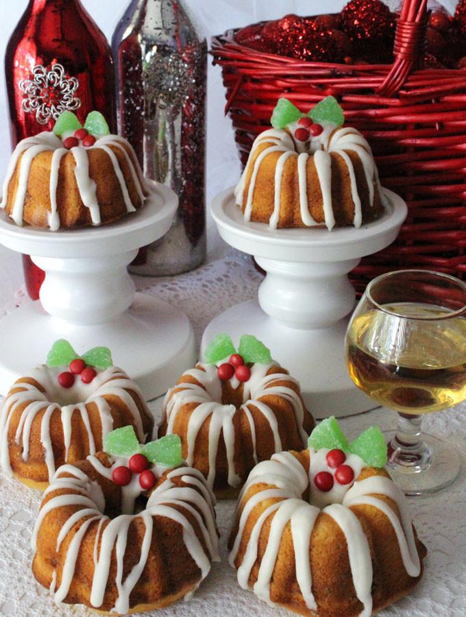 Christmas Mini Bundt Cakes  Christmas Mini Bundt Cakes Two Sisters