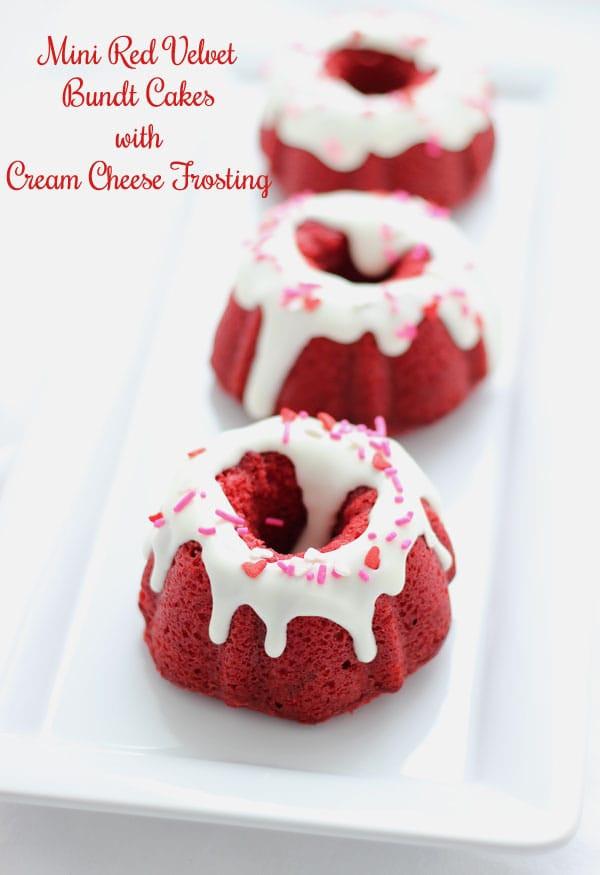 Christmas Mini Bundt Cakes  Mini Red Velvet Bundt Cakes with Cream Cheese Frosting