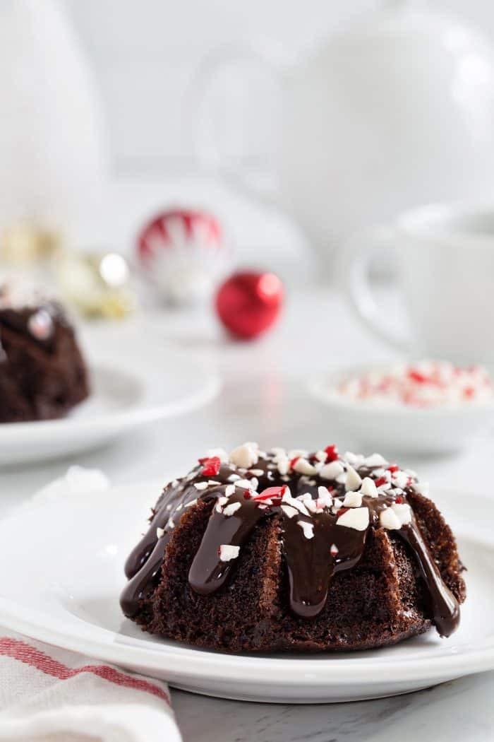 Christmas Mini Bundt Cakes  Chocolate Peppermint Mini Bundt Cakes My Baking Addiction