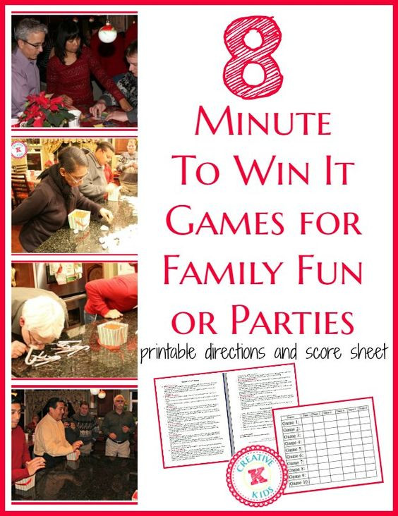Christmas Minute To Win It Games Candy Cane  Minute to Win It Christmas Party