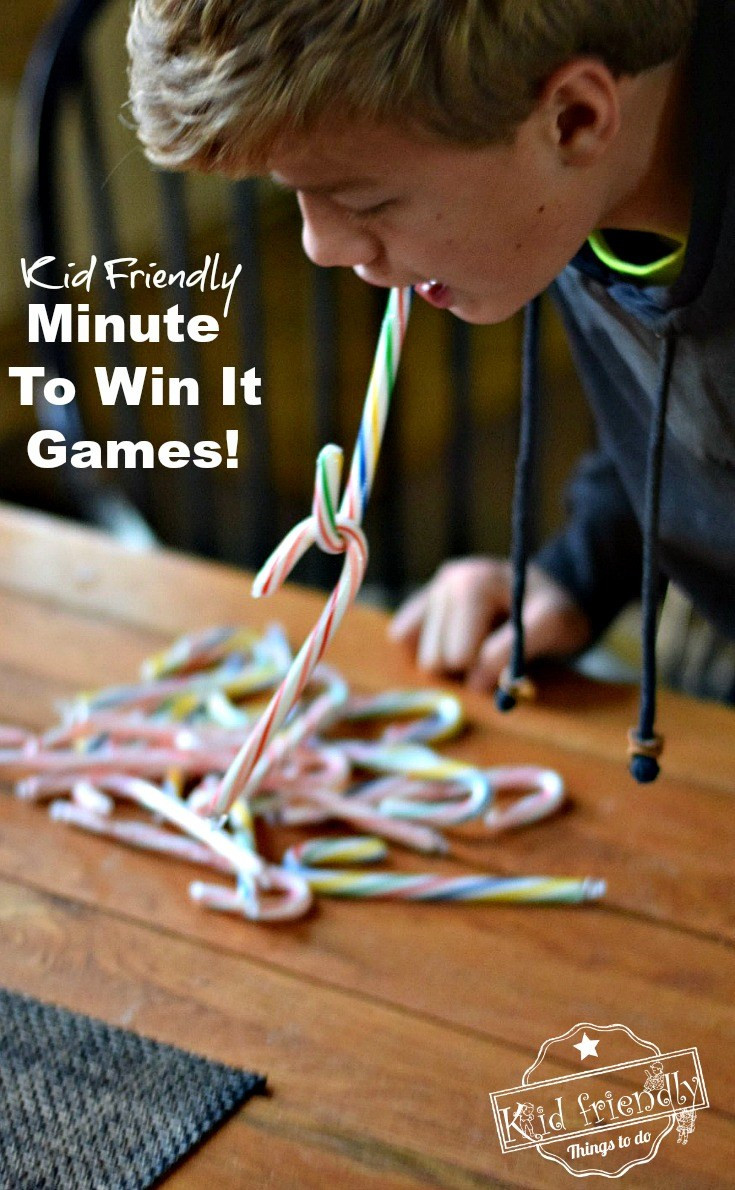 Christmas Minute To Win It Games Candy Cane  Super Fun Kid Friendly Minute To Win It Games with a