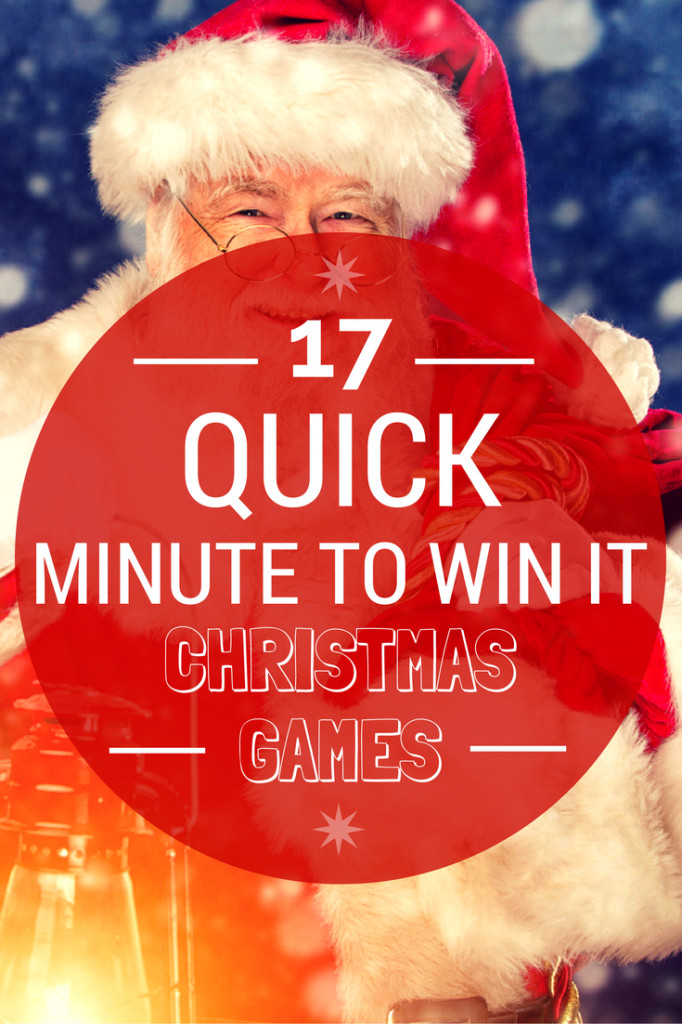 "Christmas Minute To Win It Games Candy Cane  17 Quick ""Minute To Win It"" Christmas Games for your"