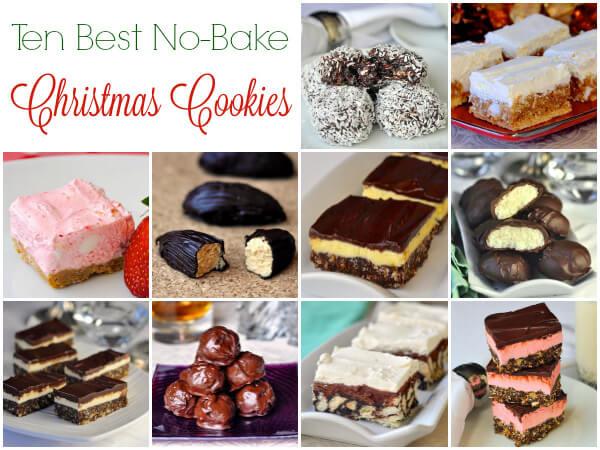 Christmas No Bake Cookies  10 Best No Bake Christmas Cookies freezer friendly too