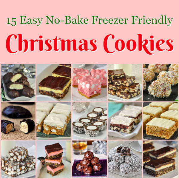 Christmas No Bake Cookies  No Bake Christmas Cookies 15 easy recipes that are