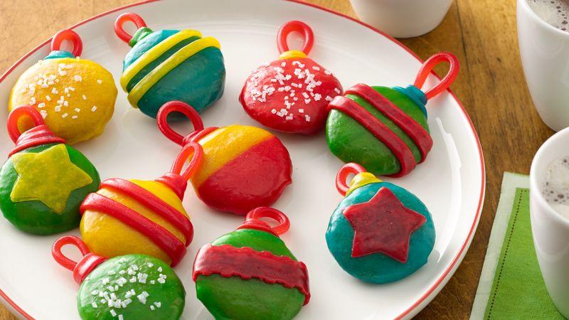 Christmas No Bake Cookies  No Bake Holiday Cookie Ornaments Recipe Pillsbury