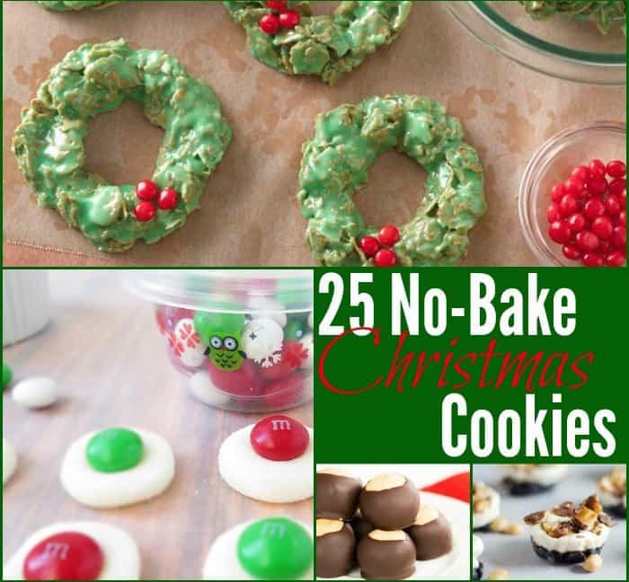 Christmas No Bake Cookies  25 No Bake Christmas Cookies