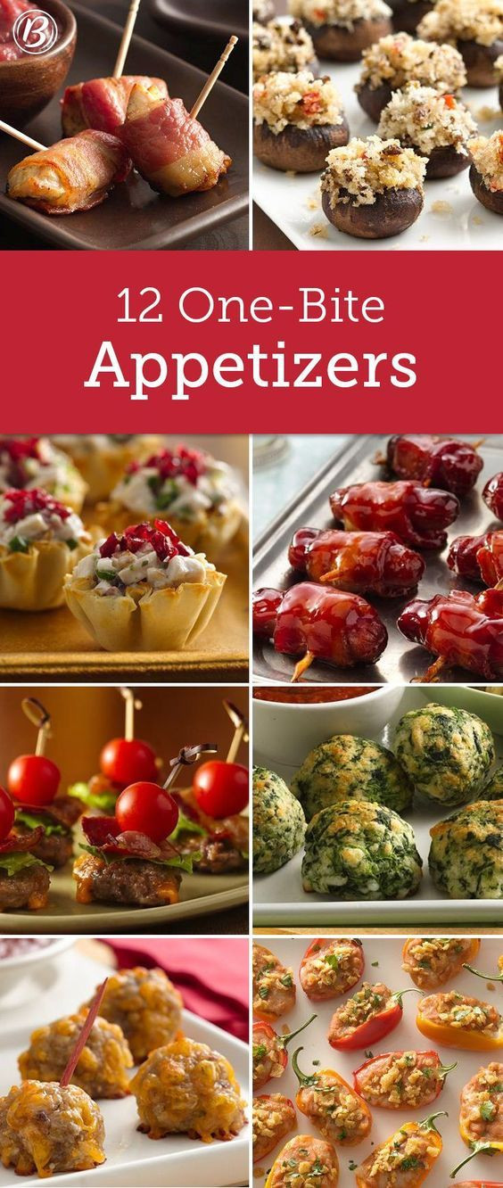 Christmas Party Appetizers Finger Foods  13 e Bite Appetizers in 2019 Make It A Meal