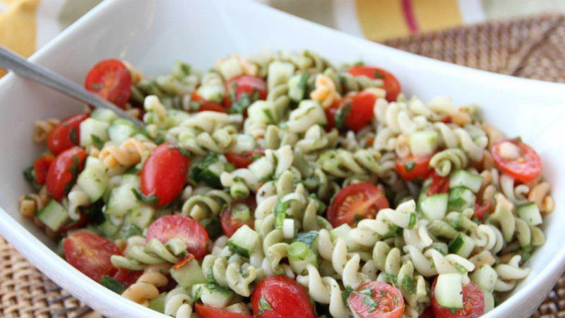 Christmas Pasta Salad  Tabbouleh Pasta Salad recipe from Betty Crocker