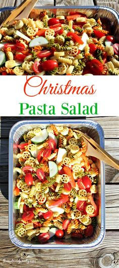 Christmas Pasta Salad  Best Colored Pasta Shells Recipe on Pinterest