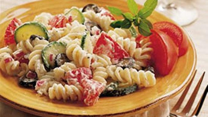 Christmas Pasta Salad  Christmas Pasta Salad recipe from Tablespoon