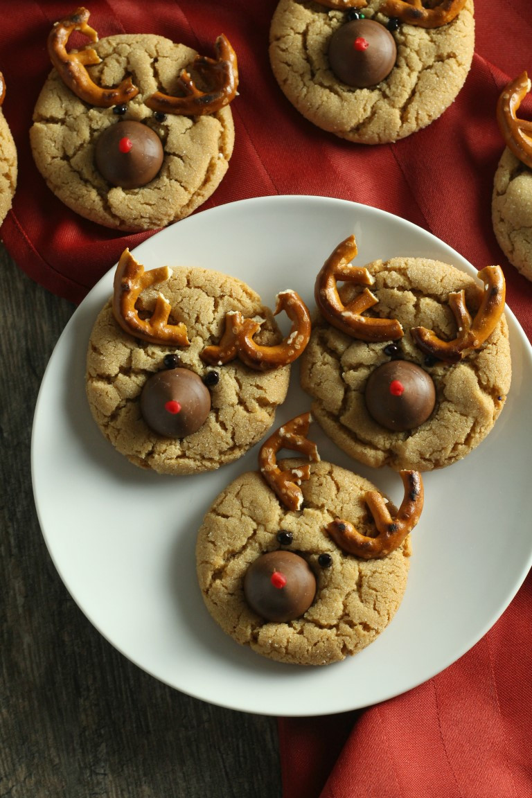 Christmas Peanut Butter Cookies  Christmas Peanut Blossom Cookies Reindeer Christmas