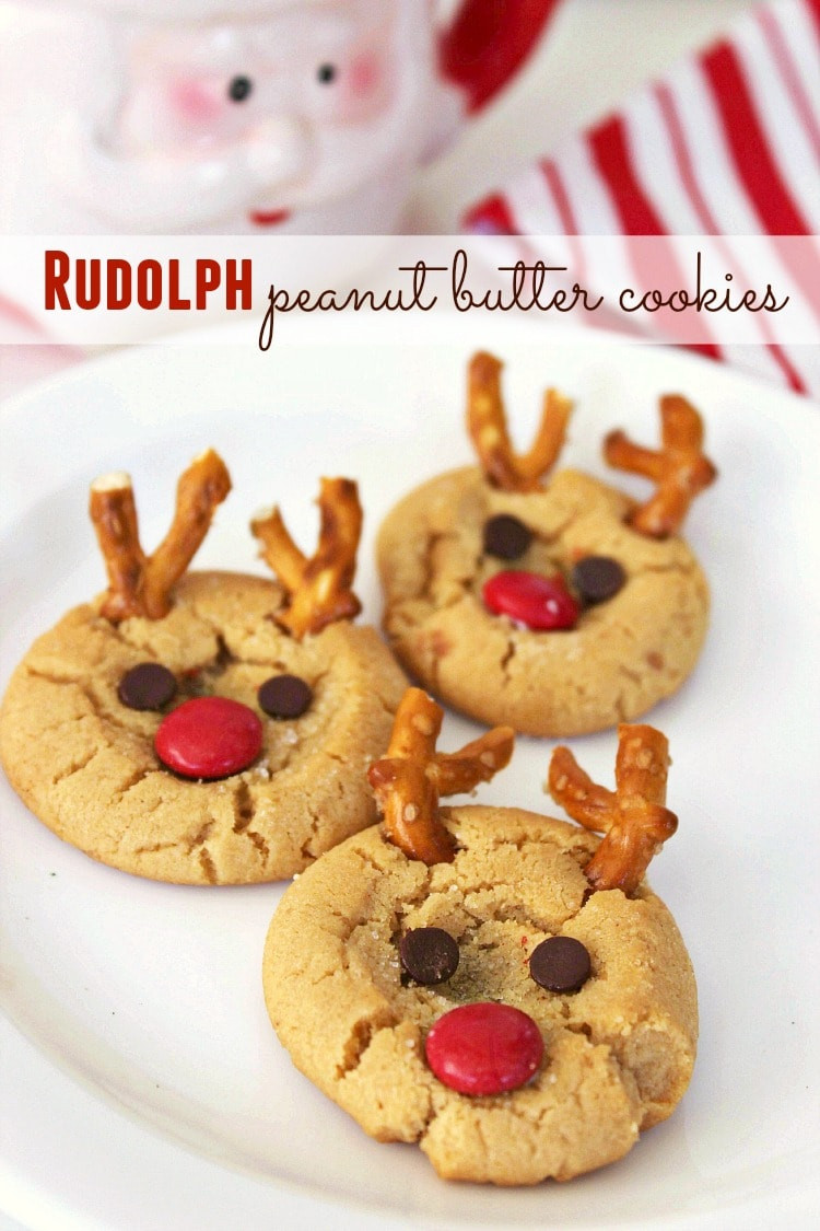 Christmas Peanut Butter Cookies  Rudolph Peanut Butter Cookies Recipe