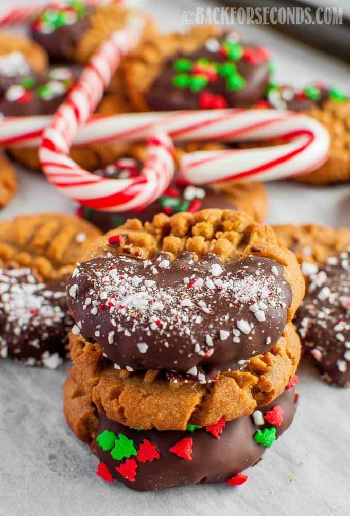 Christmas Peanut Butter Cookies  Easy Christmas Peanut Butter Cookie Recipe Back for Seconds
