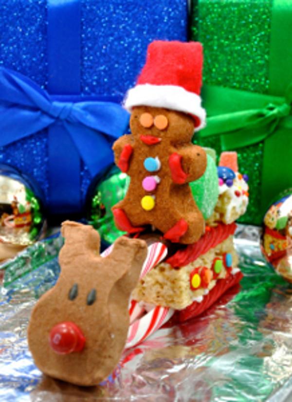 Christmas Peeps Candy  Delicious DIY Use PEEPS to Make a Christmas Candy Sleigh