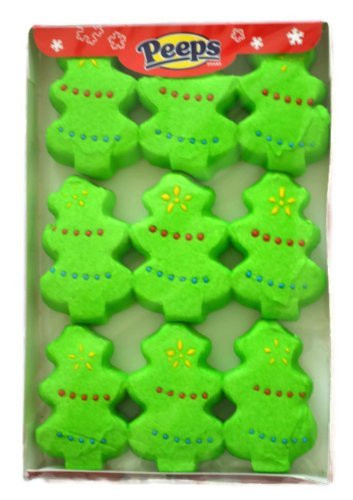 Christmas Peeps Candy  Peeps Marshmallow Christmas Trees Holiday Candy 2 Pack