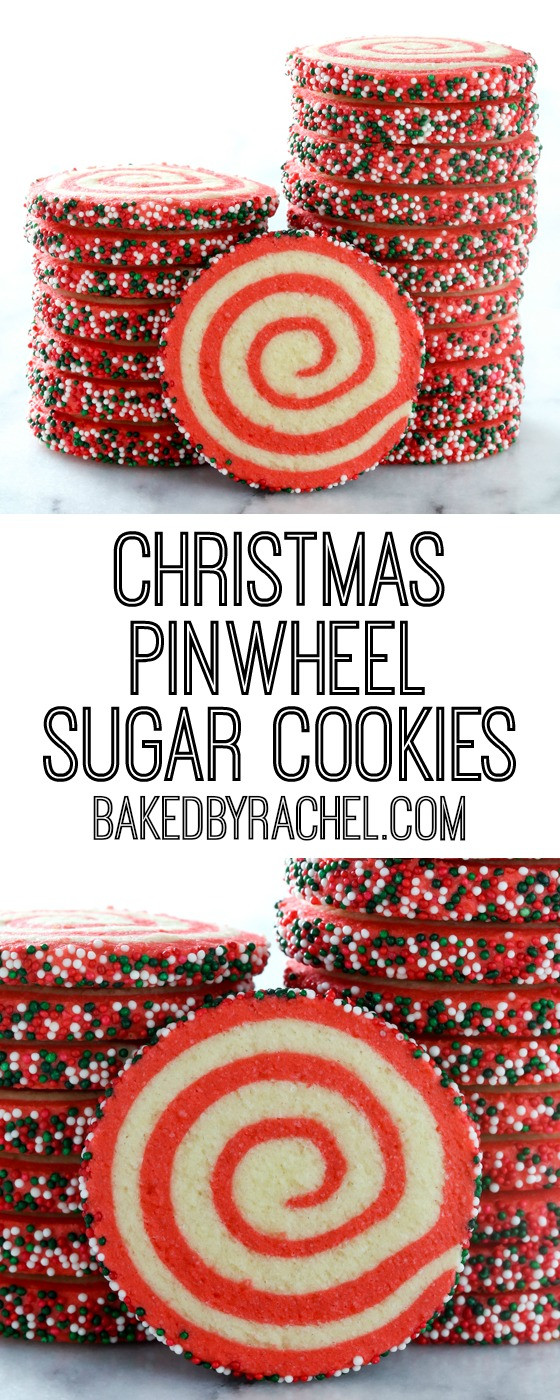 Christmas Pinwheel Sugar Cookies  Christmas Pinwheel Sugar Cookies