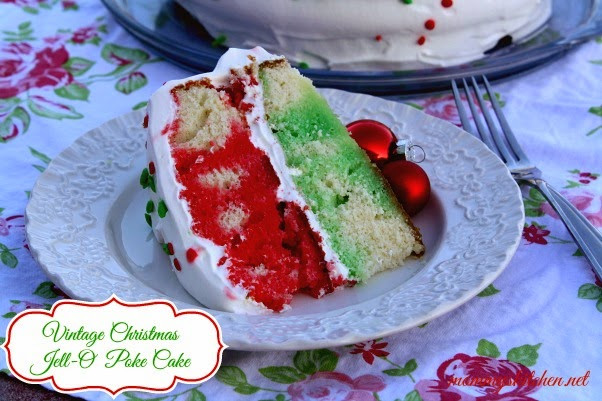Christmas Poke Cake  Mommy s Kitchen Recipes From my Texas Kitchen Vintage