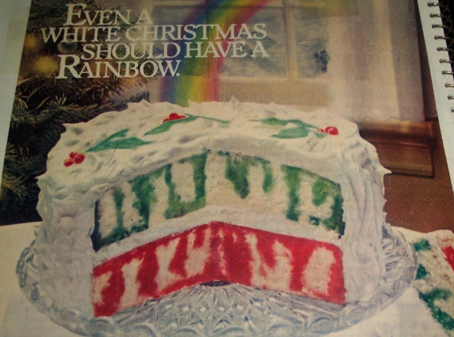 Christmas Poke Cakes  CHRISTMAS RAINBOW JELL O POKE CAKE 1980 Recipe 1980