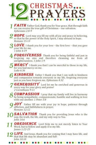 Christmas Prayers For Dinners  The 25 best Christmas prayer ideas on Pinterest