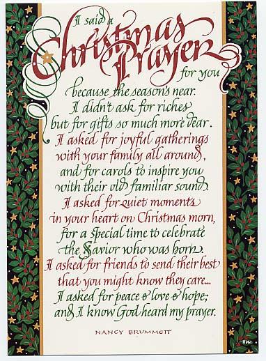 Christmas Prayers For Dinners  Velvet Over Steel Christmas Prayers