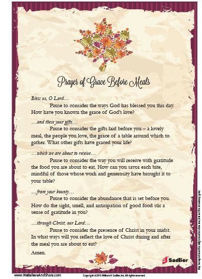 Christmas Prayers For Dinners  Extended Prayer of Grace Before Meals Perfect for
