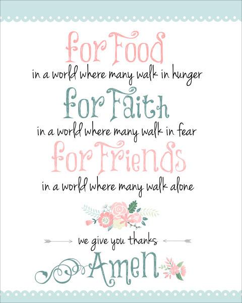 Christmas Prayers For Dinners  Dinner Prayer Free Printable How to Nest for Less™