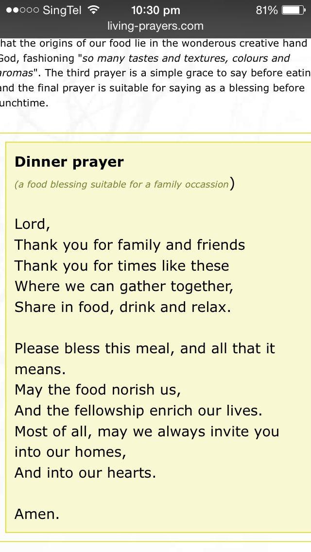 Christmas Prayers For Dinners  Best 25 Dinner prayer ideas on Pinterest