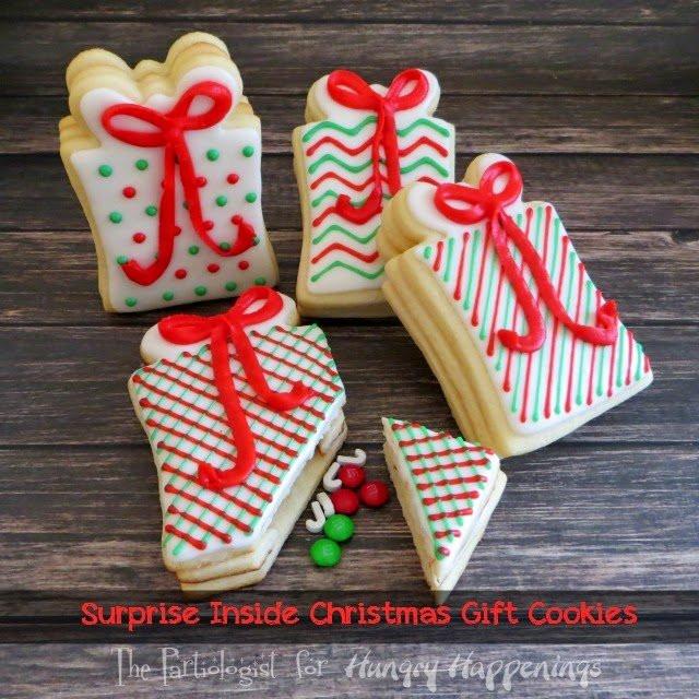 Christmas Present Cookies  Snowflake Filled Snowman Cookies Hungry Happenings