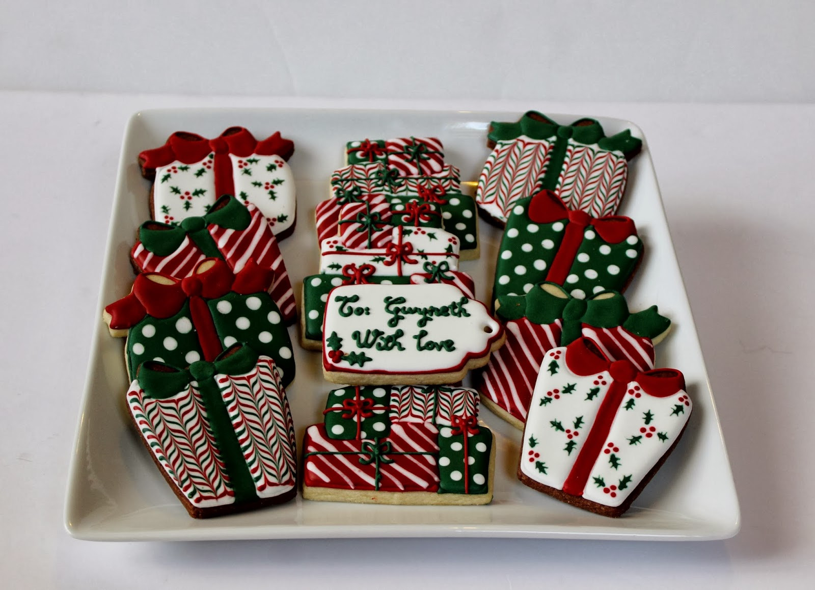 Christmas Present Cookies  Sweet Melissa s Cookies Merry Christmas Christmas