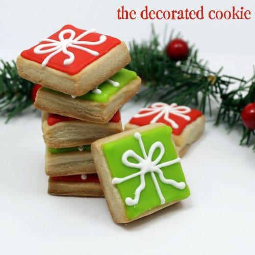 Christmas Present Cookies  bite size present Christmas cookies