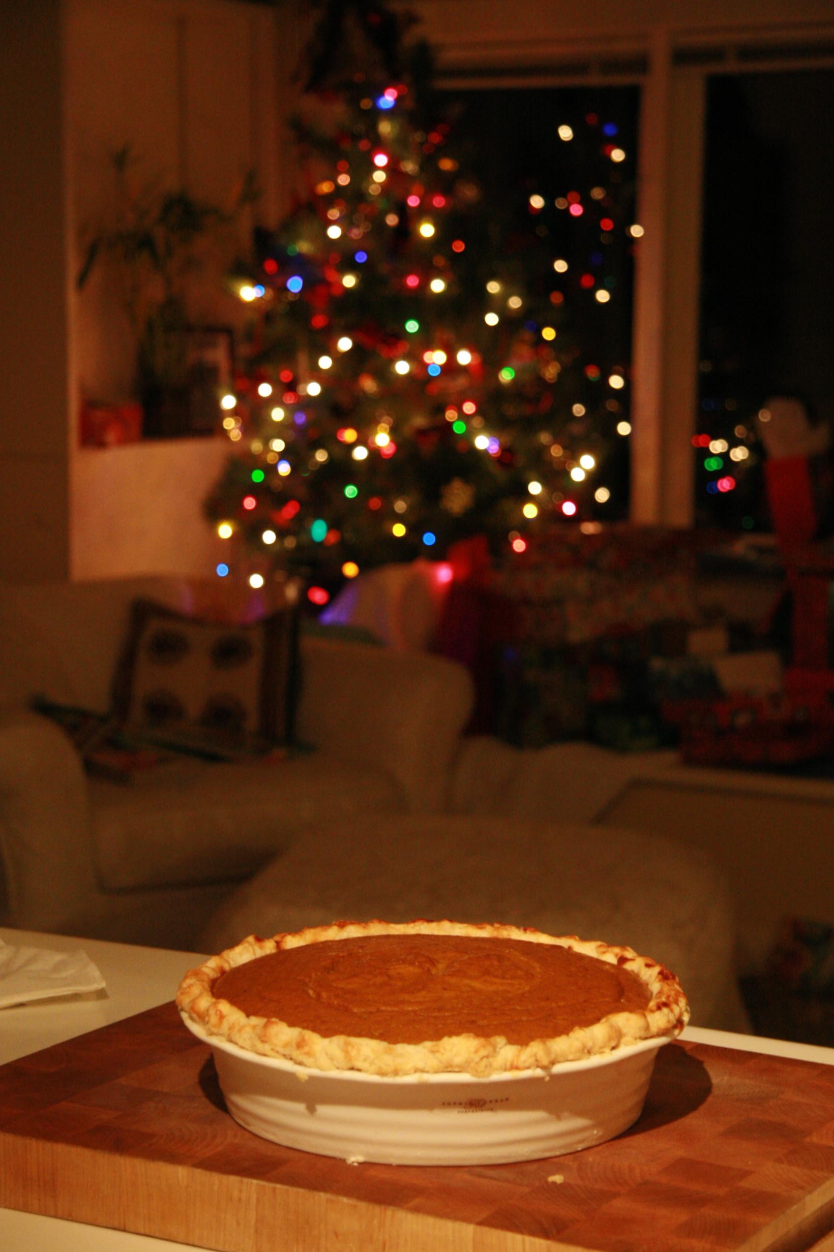 Christmas Pumpkin Pie  christmas